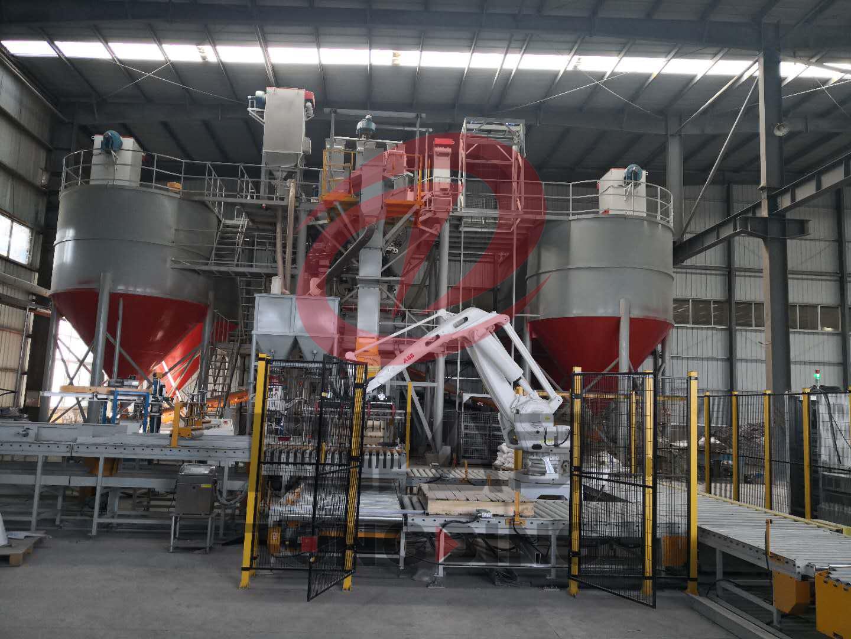 经纬建材15吨全自动特种砂浆生产线