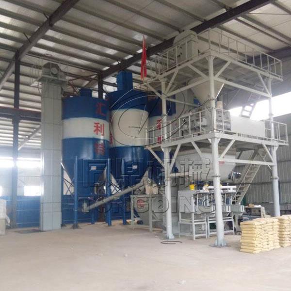 山东济南两立方双轴特种砂浆生产线